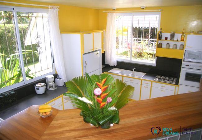 Kitchen - Villa Kahaia Beach - Vacation Rental - Moorea