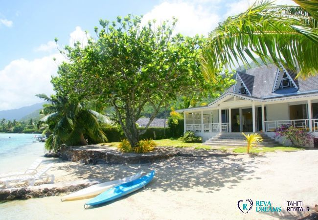 Villa in Tiahura - MOOREA - Villa Kahaia Beach 8 pax