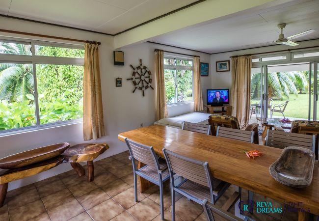 House in Huahine-Nui - HUAHINE - Fare Tipanier A/C