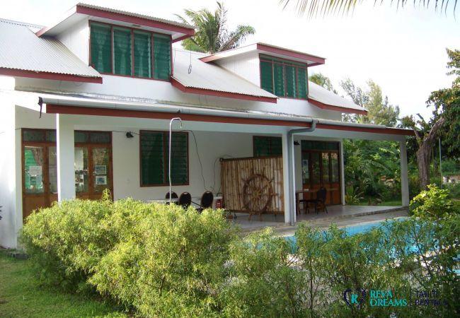 House in Huahine-Nui - HUAHINE - Villa Tiare Tipanier (Tiarenui et iti)