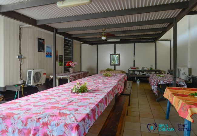 Maison à Papara - TAHITI - Fare Taharuu Tearii (côté jardin)