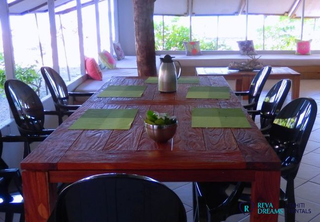Salle à manger - Motu Fafarua - Tahiti In Style - Polynésie française