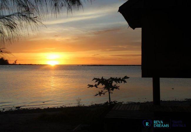 Coucher de soleil - Motu Bora Bora - Tahiti In Style - Polynésie française