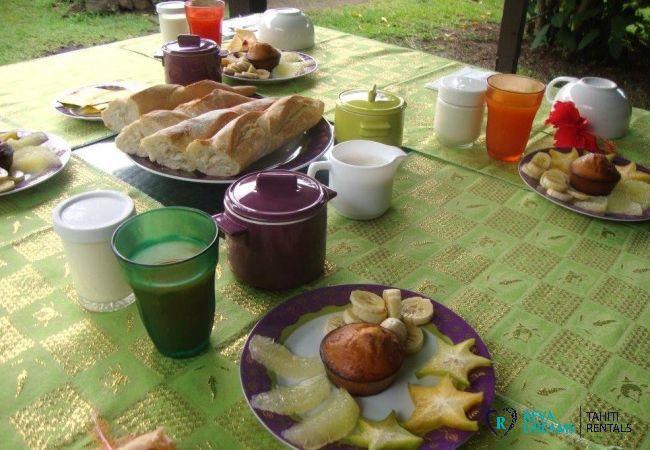 Petit déjeuner - Motu Bora Bora - Tahiti In Style - Polynésie française