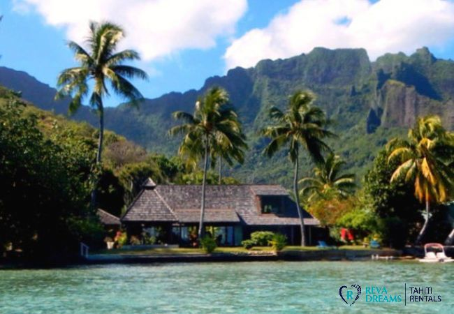 Vue de la villa depuis la mer - Villa & fare Mata'i - Villa Poerani - Moorea - Tahiti In Style - Polynésie française