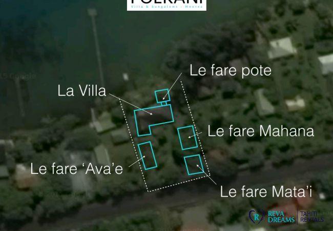 Plan - Villa & fare Mata'i - Villa Poerani - Moorea - Tahiti In Style - Polynésie française