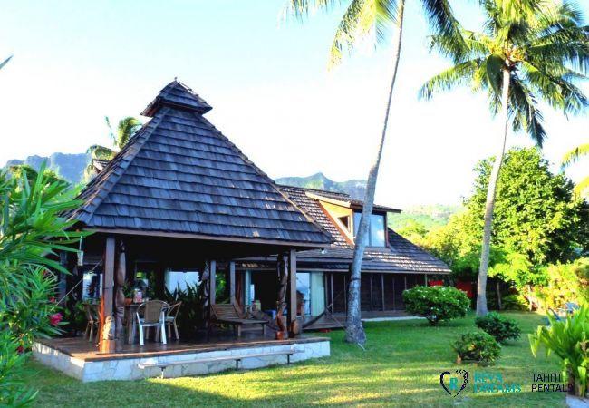 Vue de la villa - Fare Ava'e & Mahana - Villa Poerani - Moorea - Tahiti In Style - Polynésie française