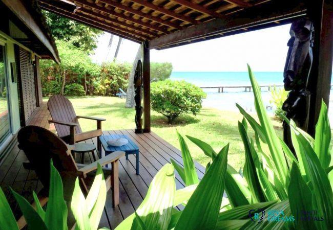 Terrasse - Fare Ava'e & Mahana - Villa Poerani - Moorea - Tahiti In Style - Polynésie française