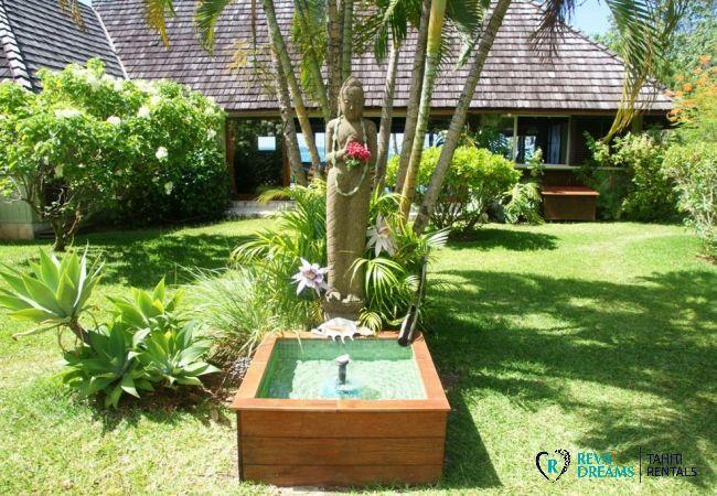 Jardin - Fare Ava'e & Mahana - Villa Poerani - Moorea - Tahiti In Style - Polynésie française