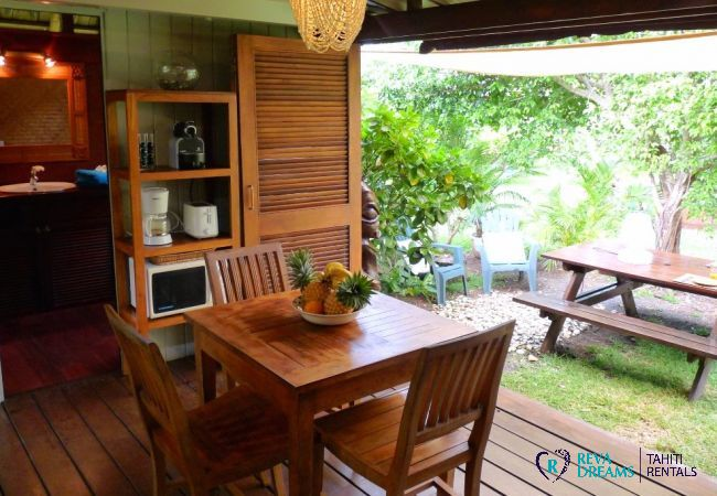 Salle à manger - Fare Ava'e & Mahana - Villa Poerani - Moorea - Tahiti In Style - Polynésie française